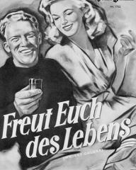 Illustrierte Film Bühne magazine with Gordon Jackson in Whisky Galore!.  Number 1753.  (German).  Freut Euch des Lebens.