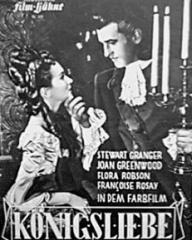Illustrierte Film Bühne magazine with Joan Greenwood and  Stewart Granger in Saraband for Dead Lovers.  Issue number 399.  (German).  Königsliebe.