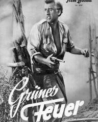 Illustrierte Film Bühne magazine with Stewart Granger in Green Fire.  Issue number 2907.  (German).  Grünes Feuer.