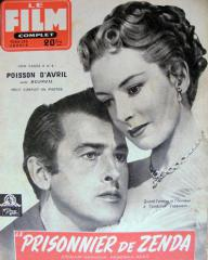 Film Complet magazine with Stewart Granger and  Deborah Kerr in The Prisoner of Zenda.  11th November, 1954, issue number 486.  (French)