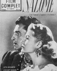 Film Complet magazine with Stewart Granger and  Rita Hayworth in Salome.  (French)