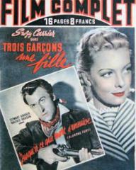 Film Complet magazine with Stewart Granger in Blanche Fury.  3rd March, 1949, issue number 143.  (French).  Also features Suzy Carrier