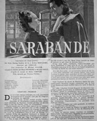 Film Complet magazine with Joan Greenwood and  Stewart Granger in Saraband for Dead Lovers.  28th September, 1950, issue number 225.  (French)