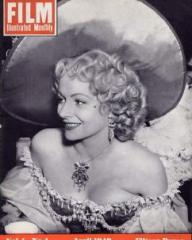 Film Illustrated Monthly magazine with Margaret Lockwood in Cardboard Cavalier.  April, 1949, volume 4, issue number 4.