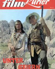 Illustrierter Film Kurier magazine with Pierre Brice and  Stewart Granger in Frontier Hellcat.  1964.  (German).  Unter Geiern.