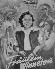 Film Kurier magazine with Shirley Temple in Susannah of the Mounties.  (German).  Fräulein Winnetou.