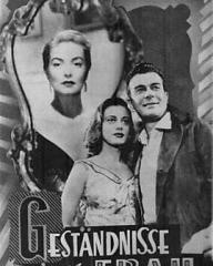 Film Neues Programm magazine with Patricia Roc in The Widow.  (German).  Geständnisse einer Frau.