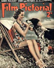 Film Pictorial magazine with Margaret Lockwood in Bank Holiday.  June, 1938.