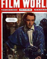 Film World magazine with Dennis Price in The Bad Lord Byron.  December, 1948.  Britain's leading film publication, edited by Peter Noble.