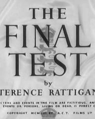 Main title from The Final Test (1953) (4).  By Terence Rattigan