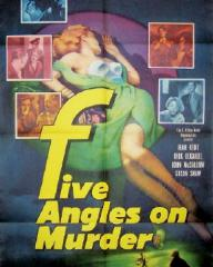 American poster for Five Angles on Murder [The Woman in Question] (1950) (1)
