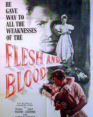 Poster for Flesh and Blood (1951) (2)