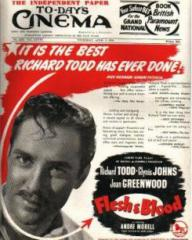 Poster for Flesh and Blood (1951) (3)