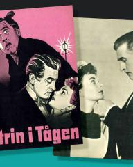 Jean Simmons (as Lily Watkins) and Stewart Granger (as Stephen Lowry) in a Danish poster for Footsteps in the Fog (1955) (2)