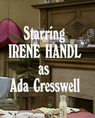 Main title from the 1970 'Sunday Tea' episode of For the Love of Ada (3).  Starring Irene Handl as Ada Cresswell