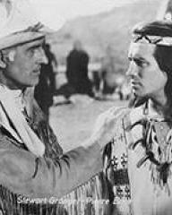 Pierre Brice (as Winnetou) and Stewart Granger (as Old Surehand) in a photograph from Frontier Hellcat (1964) (2)
