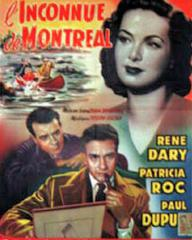 Patricia Roc (as Helen Bering) in a Belgian poster for Fugitive from Montreal (1950) (1)