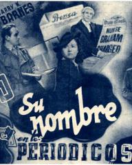 Spanish poster for The Girl in the News (1940) (1)