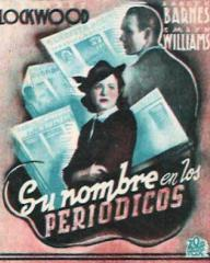 Spanish poster for The Girl in the News (1940) (2)