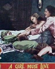 Lobby card from A Girl Must Live