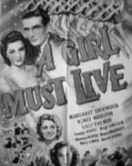 Poster for A Girl Must Live (1939) (1)