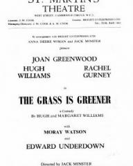 Programme from The Grass is Greener (1959) at the St Martin's Theatre, London (2)