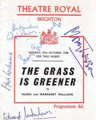 Programme from The Grass is Greener (1959) at the Theatre Royal, Brighton (1)