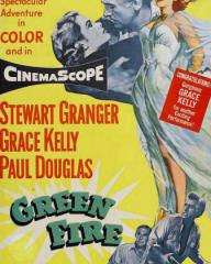 Poster for Green Fire (1954) (3)