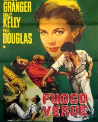 Spanish poster for Green Fire (1954) (1)