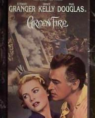 Grace Kelly (as Catherine Knowland) and Stewart Granger (as Rian X. Mitchell) in a video cover from Green Fire (1954) (1)