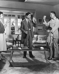 Barbara Rush (as Christian Tanner), Anthony Steel (as Desmond Tanner) and Stewart Granger (as Harry Black) in a photograph from Harry Black (1958) (1)