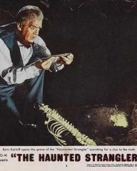 Lobby card from The Haunted Strangler [Grip of the Strangler] (1958) (6)