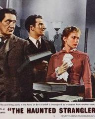 Lobby card from The Haunted Strangler [Grip of the Strangler] (1958) (7)