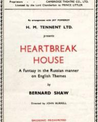 Programme from Heartbreak House (1943) at the Cambridge Theatre, London (1)