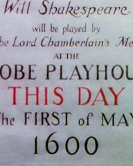 Main title from Henry V (1944) (3).  Will be played by the Lord Chamberlain's men at the Glove Playhouse this day the first of May 1600
