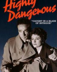 Australian video cover from Highly Dangerous (1950) (1)