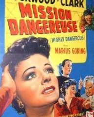 Belgian poster for Highly Dangerous (1950) (1)