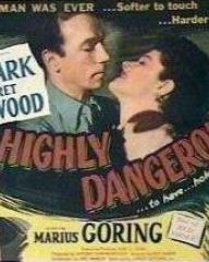 Lobby card from Highly Dangerous (1950) (1)