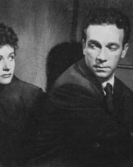 Margaret Lockwood (as Frances Gray) and Dane Clark (as Bill Casey) in a photograph from Highly Dangerous (1950) (6)