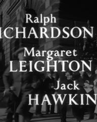Main title from Home at Seven (1952) (2). Ralph Richardson, Margaret Leighton, Jack Hawkins