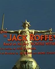 Main title from Hostile Witness (1969) (8). Screenplay by Jack Roffey