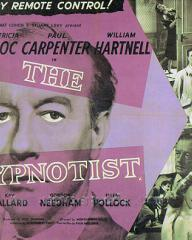 Paul Carpenter (as Valentine 'Val' Neal) in a poster for The Hypnotist (1957) (1)
