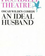 Programme from An Ideal Husband (1965) at the Piccadilly Theatre, London (1)