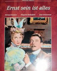 Joan Greenwood (as Gwendolyn Fairfax) and Michael Redgrave (as Jack Worthing) in a German video cover from The Importance of Being Earnest (1952) (1)