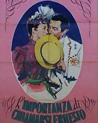 Italian poster for The Importance of Being Earnest (1952) (1)