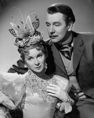 Joan Greenwood (as Gwendolyn Fairfax) and Michael Redgrave (as Jack Worthing) in a photograph from The Importance of Being Earnest (1952) (11)