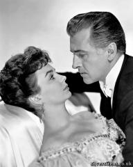 Jean Simmons and Stewart Granger star in the Victorian melodrama Footsteps in the Fog