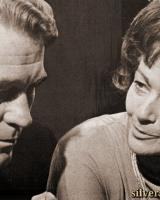 John Stone (as Dr Ian Moody) and Margaret Lockwood (as Harriet Peterson) in a photograph from Justice (1971-74) (1)