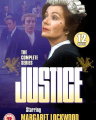 Justice – The Complete Series – DVD from Network.  Photo montage cover featuring Margaret Lockwood, Anthony Valentine and John Stone; the jury look on in the background