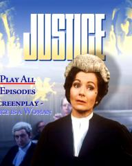 Menu from disc one of Justice season 1 DVD.  Features Justice is a Woman
